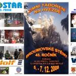 01 Pohlednice a plakát Zimní táboření na Hvězdě 2008