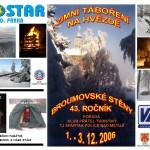 01Pohlednice a plakát Zimní táboření na Hvězdě 2006