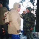 2002 5. ročník, podával se Čertův šleh, Míra Matějec a z profilu Václav Krb, pivo pije Luboš Andrýs